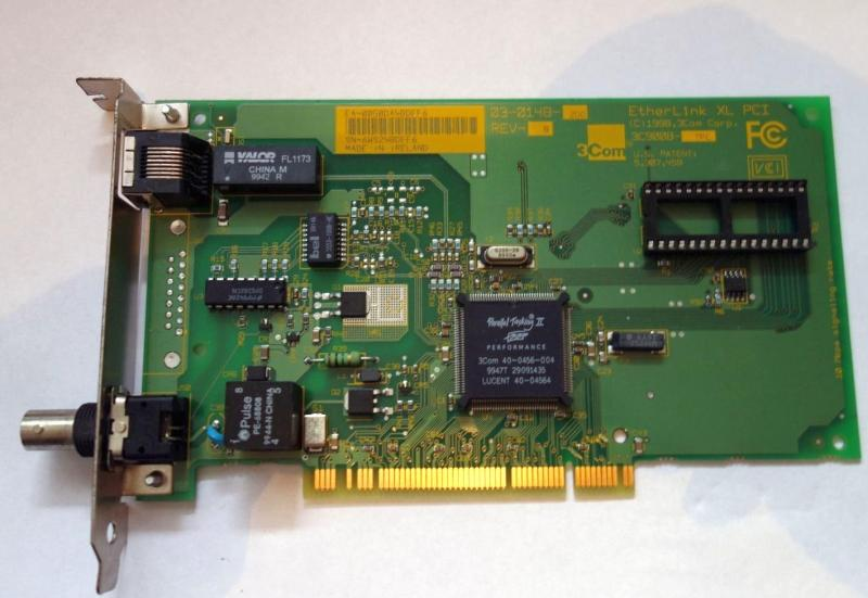 контроллер Ethernet сетевой 3C900B-TPC Etherlink XL 3COM PCI, Б/У : контроллер Ethernet сетевой 3C900B-TPC (BNC/Rj45) Etherlink XL 3COM PCI, бывший в ...