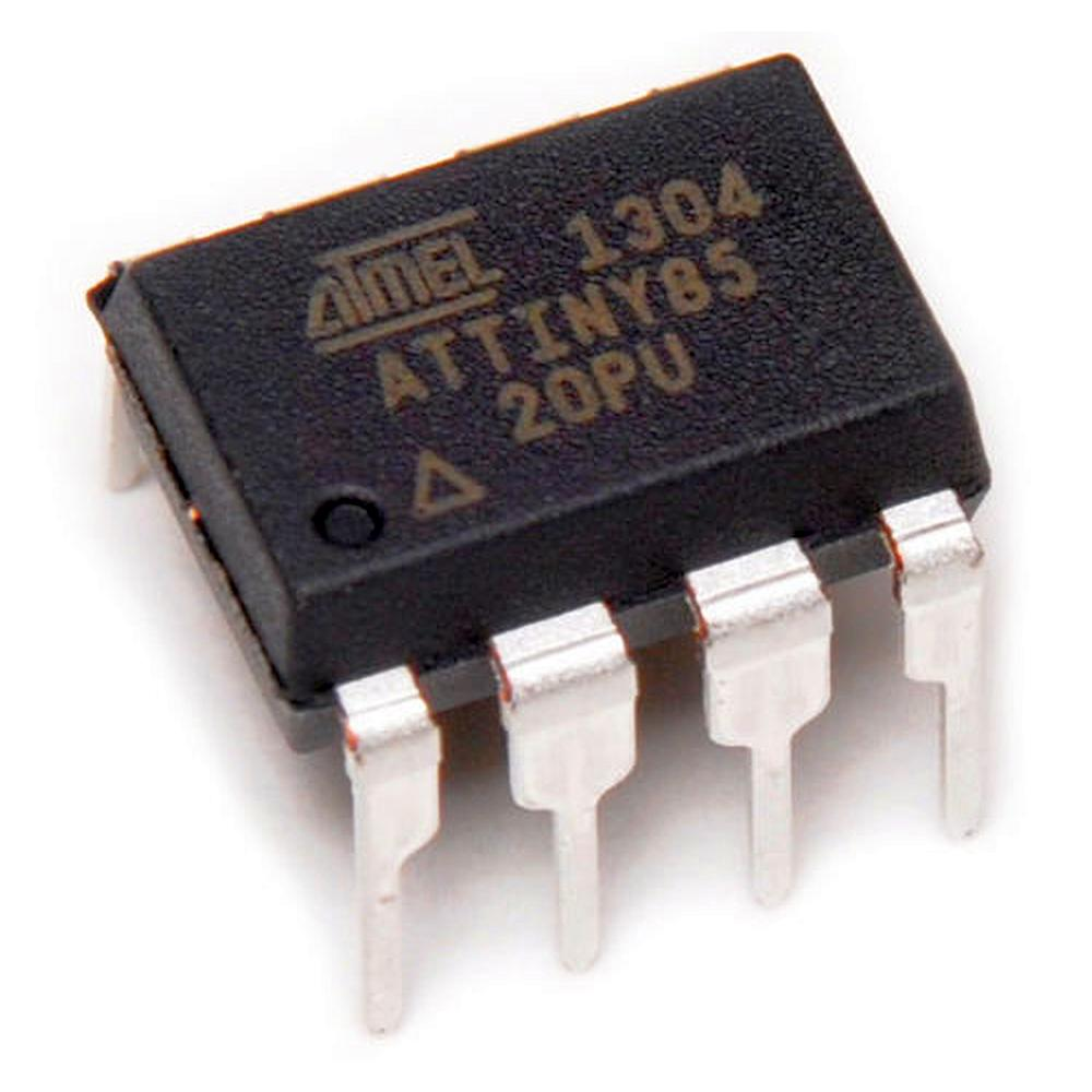 ATTINY85-20PU : микросхема микропроцессор 8BIT 8KB FLASH, Low Power AVR® 8-Bit Microcontroller