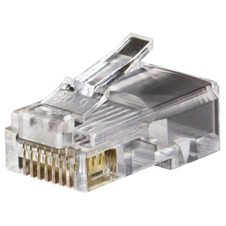 RG45P-8/8 : разъем вилка 8p8c (RJ45)Unshielded RJ Connectors....