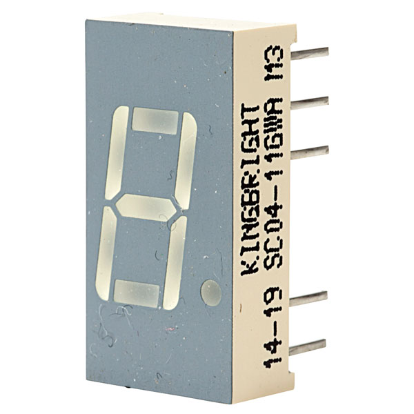 SC04-11GWA : семисегментный индикатор 10mm зеленый общий катод7-SEGMENT DISPLAYS, 10mm DISPLAYordercode       colour       wave length       descrip t...