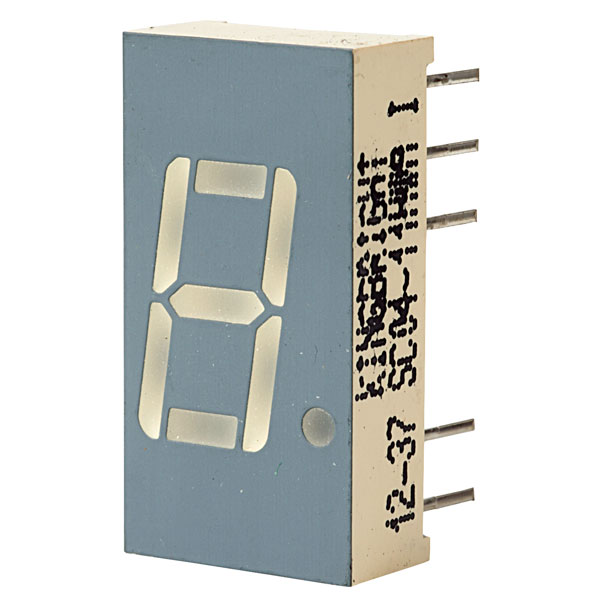 SC04-11HWA : 7-ми сегментный дисплей 10mm красный общий катод7-SEGMENT DISPLAYS, 10mm DISPLAYordercode       colour       wave length       descrip ti...