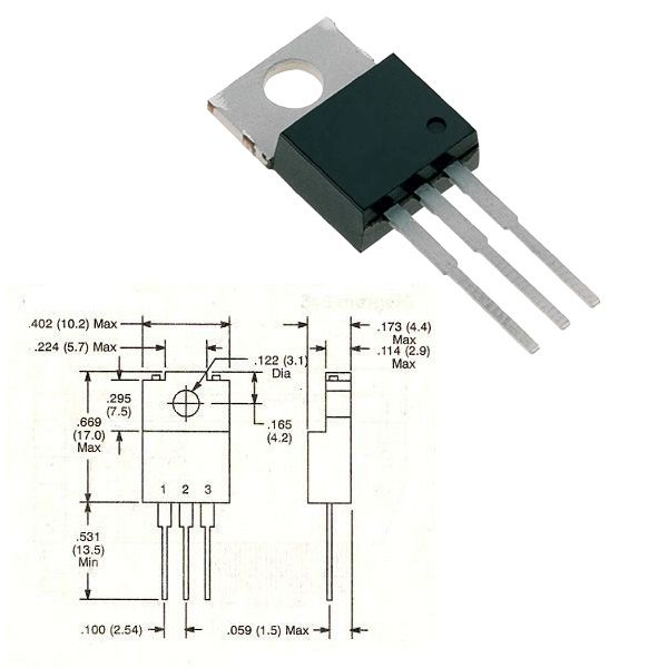 BD240 : транзистор SI-P 45V 2A 30W...