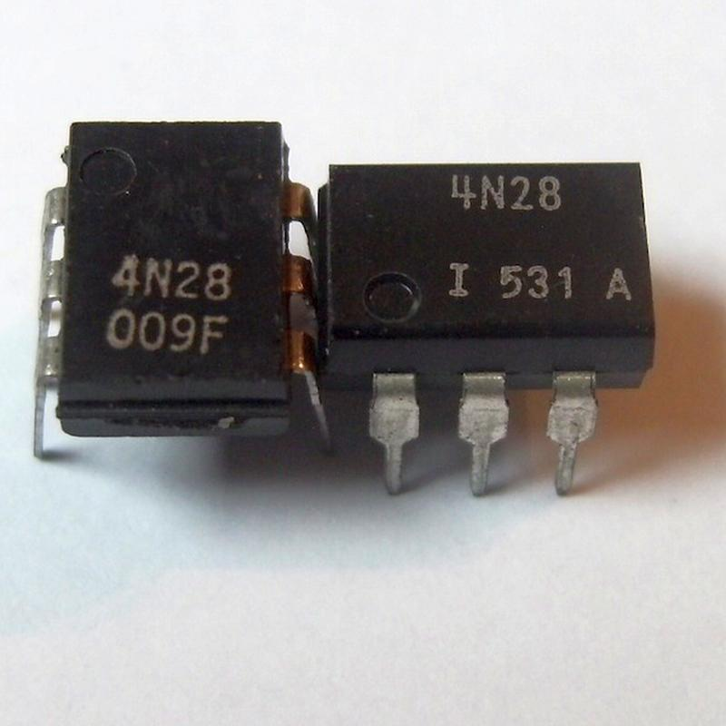 4N28 : оптопара  30V 10% 1/2USOpto couplers for analog signalsordercode       No.of elem.       CTR       Viso       Vceo Vmax       Vcesat Vslow     ...