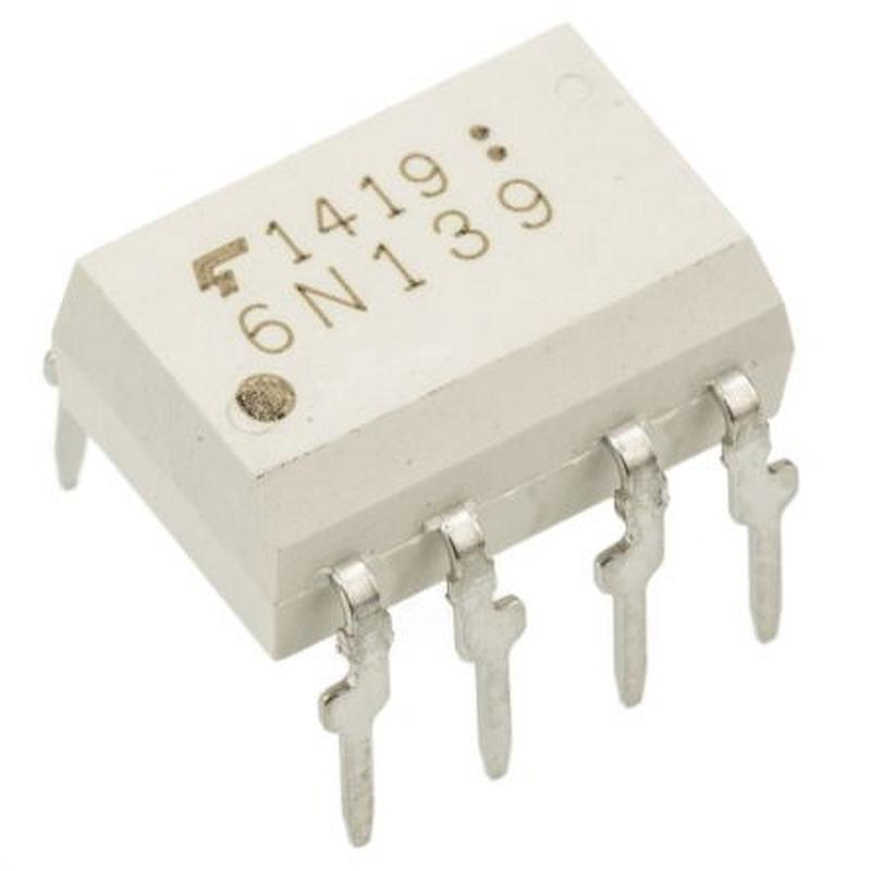 6N139 : оптопара  2.5KV 18V 400%Opto couplers for digital signalsordercode       No.of elem.       CTR       Viso       Vceo Vmax       Vcesat Vslow  ...