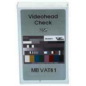 MB VAT61 : VCR ALIGNMENT TAPE SECAMThis measuringcassette is specially developed for testing videoheads. (headmounting checking, drop-out compensation...